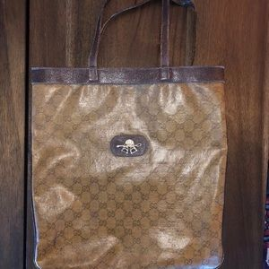 Vintage Gucci Leather Tote
